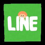 LINEという文字を噛むキャラクター